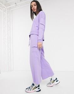 Лавандовые широкие джоггеры от комплекта Noisy May-Фиолетовый