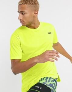 Ярко-желтая спортивная oversize-футболка из быстросохнущей ткани ASOS 4505-Желтый
