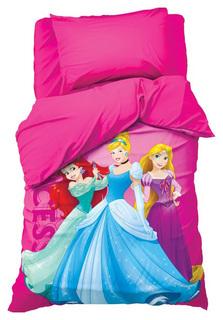 Комплект постельного белья Disney Принцессы Разноцветный