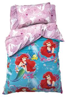 Комплект постельного белья Disney Русалочка Ариэль Голубой