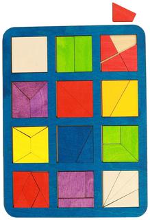 """Рамка-вкладыш """"Сложи квадрат"""" - 12 квадратов, 1 уровень Woodland (Сибирский сувенир)"""