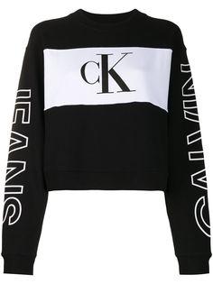 Calvin Klein Jeans укороченная толстовка в стиле колор-блок
