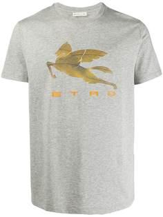 Etro футболка с принтом Pegaso