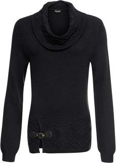 Пуловер с объемным воротом Bonprix