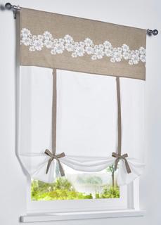 Римская штора на лентах с цветочным принтом Bonprix