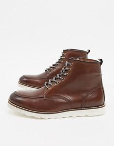 Кожаные походные ботинки светло-коричневого цвета Common People-Светло-коричневый