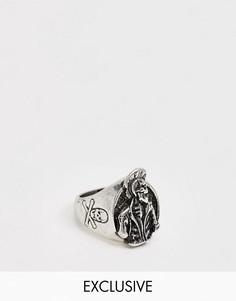 Кольцо со скелетом Reclaimed Vintage Inspired-Серебряный