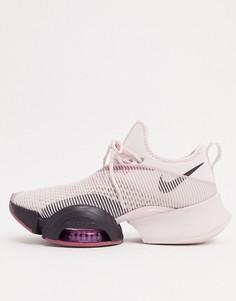 Розово-бордовые кроссовки Nike Training Air Zoom SuperRep-Фиолетовый