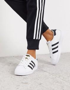Черно-белые кроссовки adidas Originals Superstar-Мульти