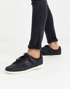 Черные кроссовки с сетчатыми вставками Jack & Jones-Черный