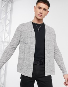 Серый фактурный меланжевый кардиган ASOS DESIGN