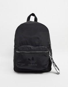 Черный рюкзак с логотипом-трилистником adidas Originals