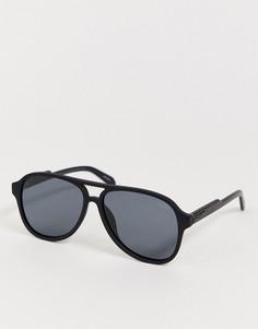 Солнцезащитные очки в квадратной оправе Quay Lost Weekend-Черный