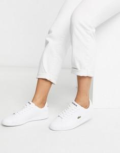 Белые кожаные кроссовки Lacoste Graduate BL 1-Белый