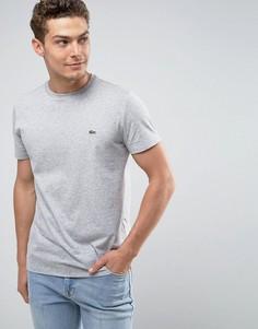Серая футболка с круглым вырезом Lacoste-Серый
