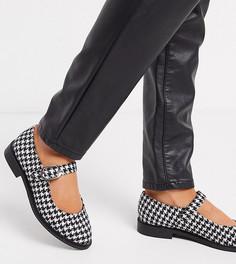 Туфли Мэри Джейн для широкой стопы на плоской подошве ASOS DESIGN-Мульти