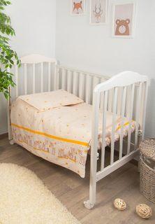 Комплект детского постельного белья Тайна Снов Оленята 3 предмета бежевый Сонный гномик