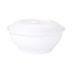 Чаша с крышкой (супница) АККУ 1750 мл костяной фарфор , белый