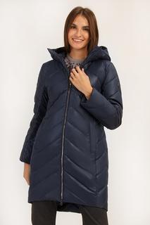 Пальто женское Finn Flare A19-11013 синее L