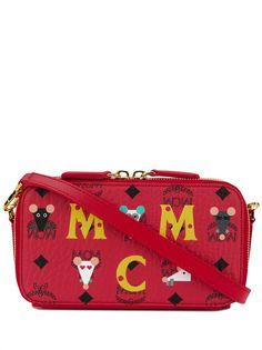 MCM каркасная сумка на молнии с логотипом