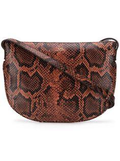 A.P.C. сумка через плечо с эффектом змеиной кожи