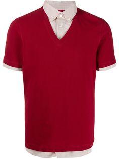 Brunello Cucinelli многослойная рубашка с короткими рукавами