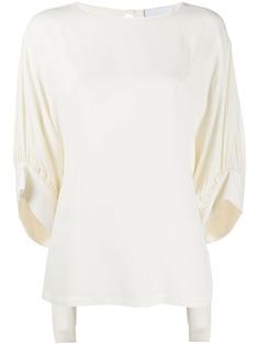 Erika Cavallini блузка свободного кроя с завязками на манжетах