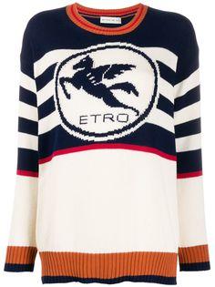 Etro джемпер в полоску с логотипом