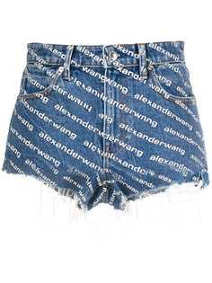 Alexander Wang джинсовые шорты с монограммой