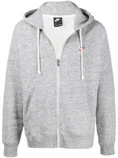 Nike zip-through hooded sweatshirt