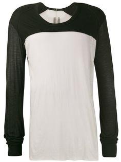Rick Owens футболка с длинными рукавами в стиле колор-блок