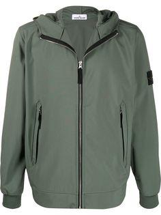 Stone Island куртка Light Soft Shell-R с капюшоном
