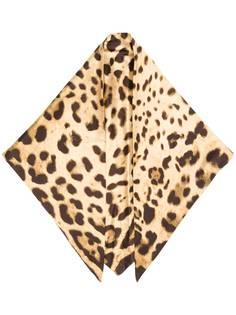 Dolce & Gabbana шейный платок с леопардовым принтом