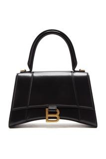 Черная сумка Hourglass Balenciaga