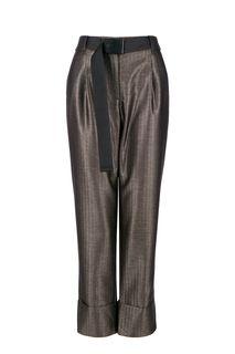 Серые зауженные брюки с поясом Urban Tiger