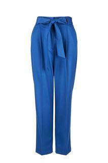 Синие зауженные брюки с поясом Urban Tiger