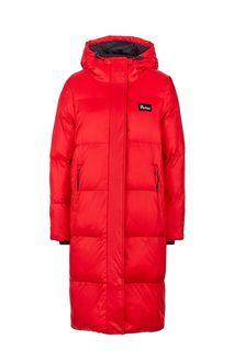 Удлиненная красная куртка с капюшоном Penfield