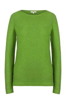 Хлопковый джемпер зеленого цвета Tom Tailor