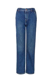 Широкие синие джинсы с высокой посадкой Pepe Jeans