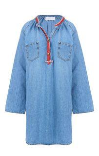 Джинсовое платье с карманами Pinko