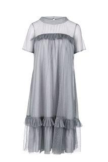Серое платье свободного кроя в вечернем стиле Vera Moni