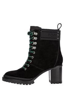 Замшевые ботинки на устойчивом каблуке Tommy Hilfiger