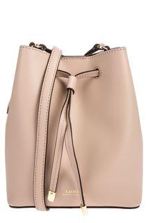 Розовая кожаная сумка-торба Lauren Ralph Lauren