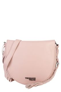 Маленькая розовая сумка с бахромой Trussardi Jeans