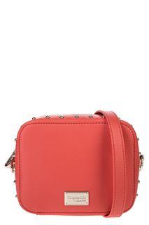 Маленькая красная сумка с металлическим декором Trussardi Jeans