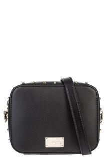 Маленькая черная сумка с металлическим декором Trussardi Jeans