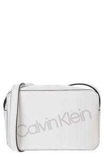 Маленькая белая сумка через плечо Calvin Klein Jeans