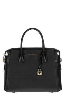 Черная кожаная сумка Mercer Michael Michael Kors
