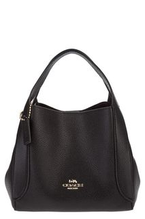 Черная кожаная сумка Hadley Coach
