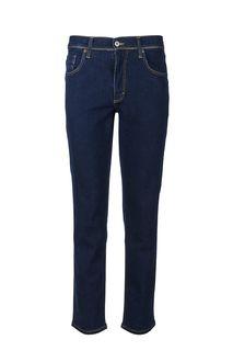 Синие зауженные джинсы с контрастной строчкой Washington Mustang